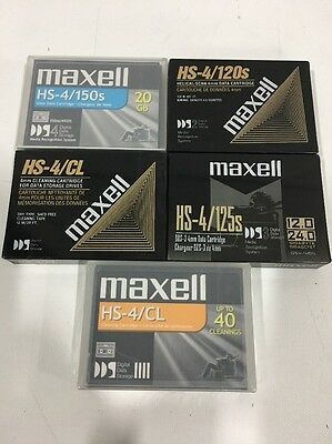 Lot of 74 NEW Maxell HS-4/120s, HS-4/125,HS-4/CL,HS4/150S DATA CARTRIDGE