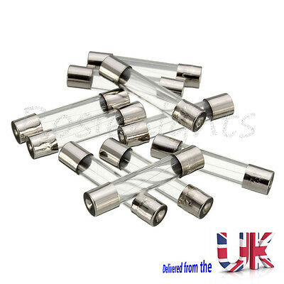 50pcs Fast Acting Quick Blow Glass Fuses 0.2A 0.5A 1A 2A 3A 5A 6A 8A 10A 15A 240