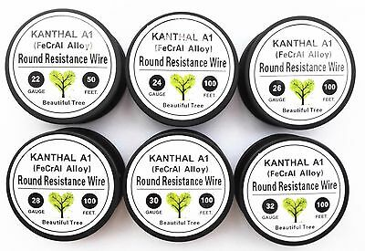 Mixed 550 Feet 22,24,26,28,30,32 Gauge AWG kanthal A1 resistance wire