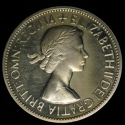 1953 Great Britain 1/2 Half Crown Proof Beautiful coin!!!