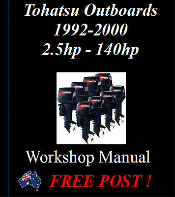 Tohatsu Outboard 2 Stroke 1, 2, 3 & 4 Cyl Engine  Workshop Manual On Cd