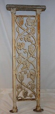 Architectural Salvage Grape Vine Cast Iron Porch Handrail Baluster Newel Post