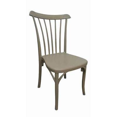 Gozo Outdoor Chair Stackable Restaurant Cafe Bar Seat Dining Coffee Timber Look