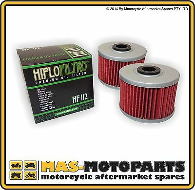 HI-FLO 2 PACK OF OIL FILTERS FOR HONDA XR400 R XR440 R 1996 to 2004