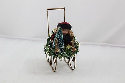 Byers Choice Carolers 2005 Young Girl Child in Sleigh Buggy