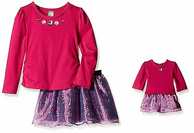 Dollie & Me Girl 4-12 and Doll Matching Purple Sequin Skirt Outfit American Girl