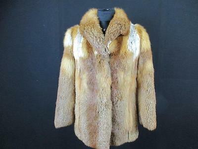 Morgenroth Vtg Womens Authentic Real Fur Coat Size 12/14 Uk Brown Excellent H015