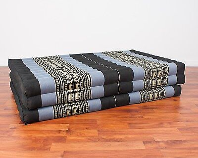 Thai Massage Mat XL, 210x115x8 cm, Kapok, Blue