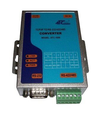 TCP/IP Ethernet seriale RS232 a RS485 RS422 convertitore EU Version