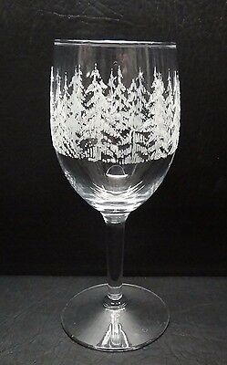 Libbey Frosty Pines Wine Goblet Glass Christmas Multiples Available