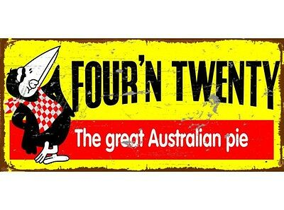 NEW Four N Twenty tin metal sign