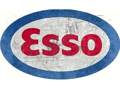 NEW Esso Oval Large tin metal sign
