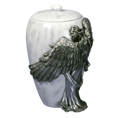 Perfect Memorials Angel's Embrace Large Stone Cremation Urn
