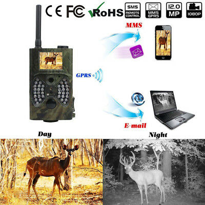 940NM Groß Digitale Hunting HC300M GPRS MMS Infrarothinterkamera GSM IR LED ^_^