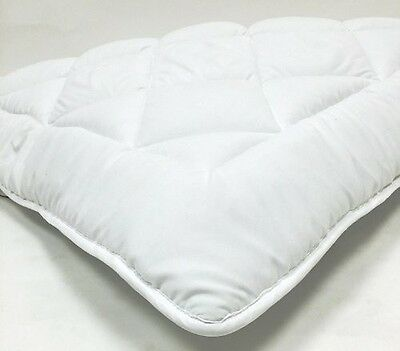 reversible goose down alternative mattress topper support pad & anchor straps