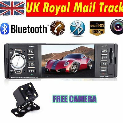 "4.1"" 12V Bluetooth TFT LED Screen Handsfree Car Radio Stereo MP3/4/5 Player +Cam"