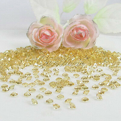 5000 Gold 4.5mm Diamond Table Confetti Decoration Crystals 1/3ct Wedding Party