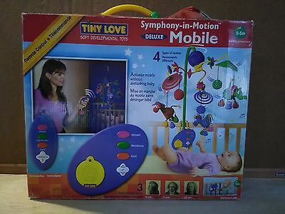 Deluxe! Tiny Love Symphony In Motion Crib Mobile Mint Working Condition