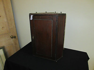 Victorian wooden corner wall cabinet 48-60 cm tall