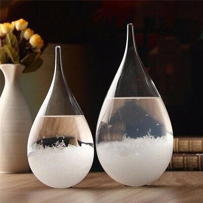 Pronóstico Tiempo Crystal Drop Water Shape Storm Glass Home Decor Christmas Gift