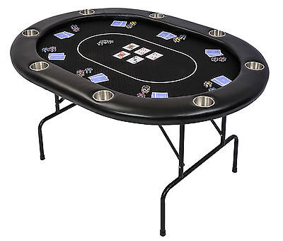 PRE-ORDER: Riverboat TLS Poker Table with Black Speed Cloth Folding Legs 152cm