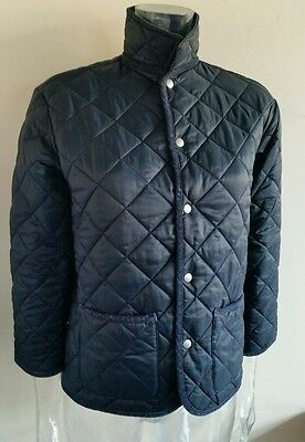 Girls Age 10 United Colours Of Benetton Quilted Navy Jacket / Coat