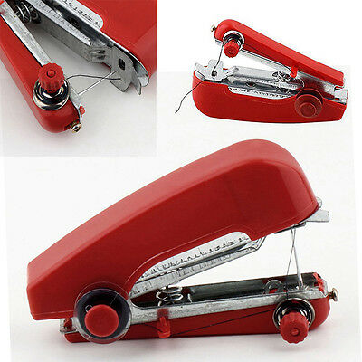 Mini Portable Cordless Hand-held Clothes Sewing Machine Home & Travel Use Red