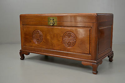Oriental Camphor Wood Blanket Box Chest