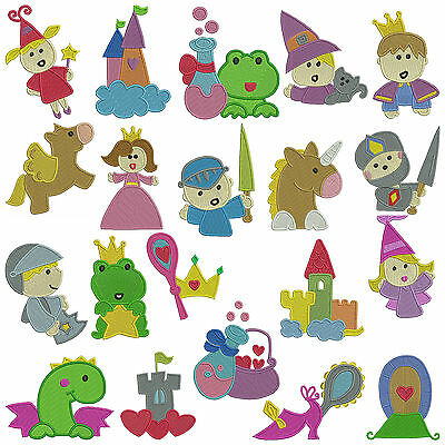 FAIRYTALES * Machine Embroidery Patterns * 20 designs x 2 Sizes