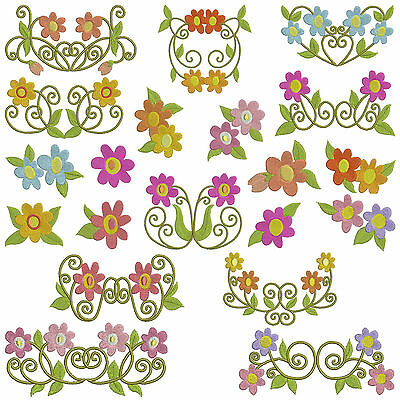 * DAISY * Machine Embroidery Patterns * 20 designs x 3 sizes