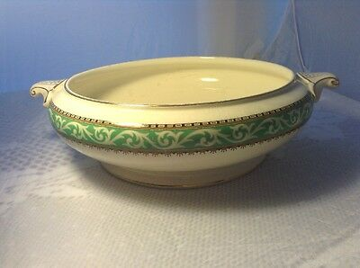 Vintage Booths Queens Green Solian Serving Dish