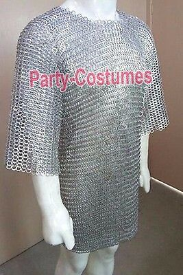 Butted Chainmail Shirt Large F Sleeve Chain Mail Armor Chainmaile Hauberk