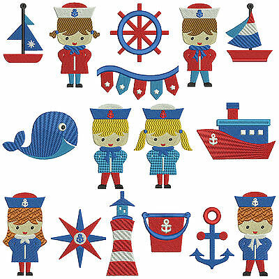 SAIL AWAY * NAUTICAL * Machine Embroidery Patterns * 16 designs