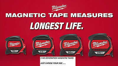 Milwaukee  5/8mtr 16/ 26ft Double Sided Magnetic Tape Measurs 2nd GENERATION