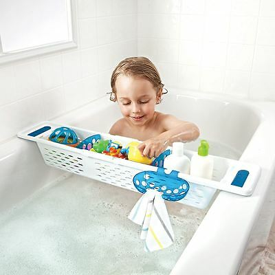 Munchkin Secure Grip Toddler/Childrens Storage Bath Caddy with Dividers & Tray
