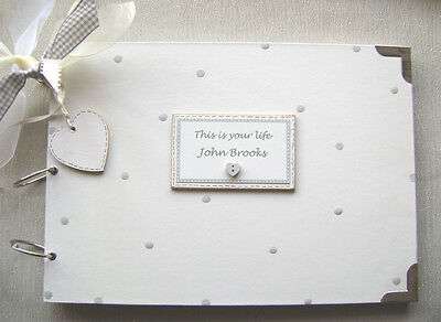 A4 SIZE. PERSONALISED this is your life .SIZE. PHOTO ALBUM/SCRAPBOOK/MEMORY BOOK
