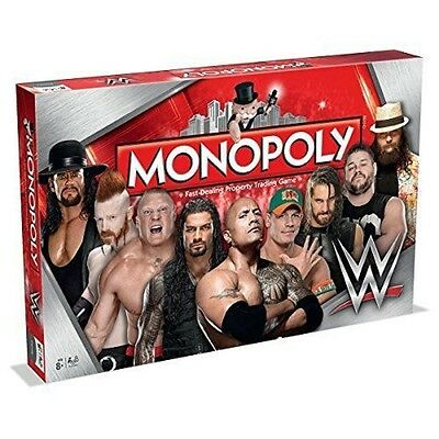 WWE Winning Moves Edition Monopoly - Strategy Board Game - Best Gift for Xmas