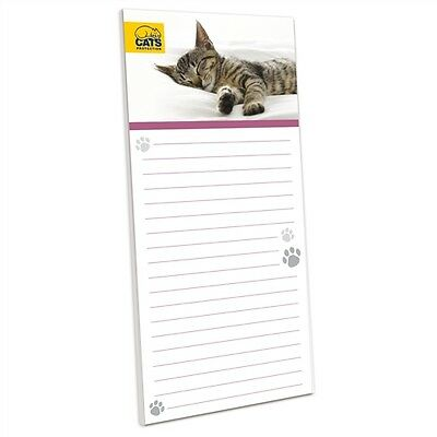 Cats Protection Stationery - Magnetic Memo Pad Sleeping Tabby Kitten