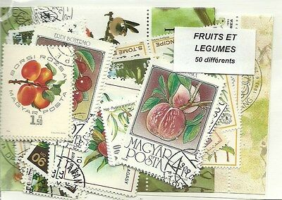 "Lot timbres thematique ""fruits"""