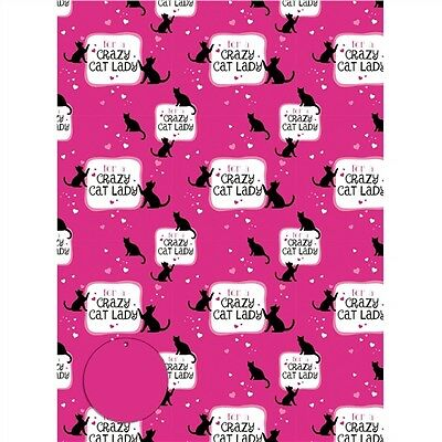 Gift Wrap & Tags - Crazy Cat Lady (2 Sheets+Tags)