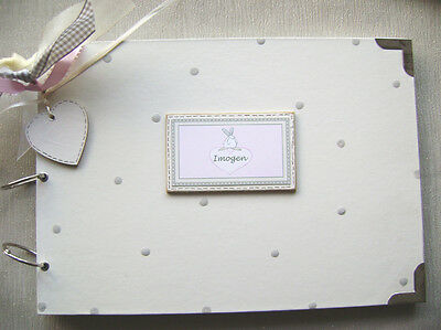 A4 Size. Personalised New Baby/Birth. Photo Album/Scrapbook/Memory Book