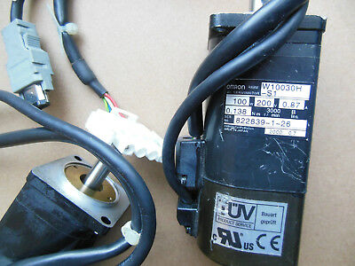 Omron Servo Motor R88M-W10030H-S1 FREE EXPEDITED SHIPPING R88MW10030HS1 USED