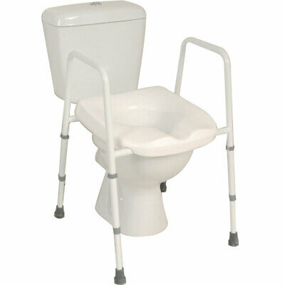 Mowbray Lite Fixed Width Toilet Seat & Frame - Assembled