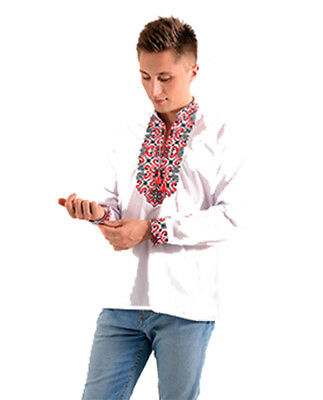 Ukrainian embroidered full sleeve shirt for man, sorochka, vyshyvanka S-XXL