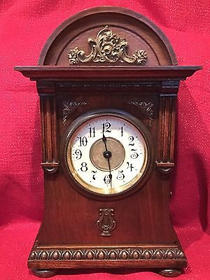 Antique Junghans German Black Forest Style Swiss Musical Alarm/Table Clock