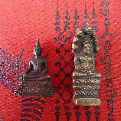Thailand 2 small Buddha statues  Asian Amulet