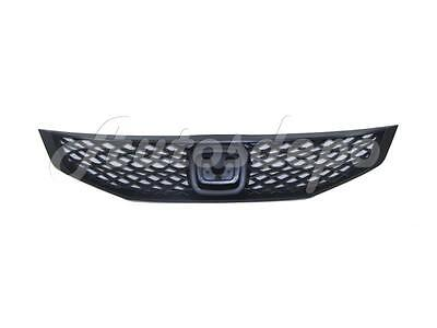For 2009-2010 Honda Civic Coupe Grille Black New