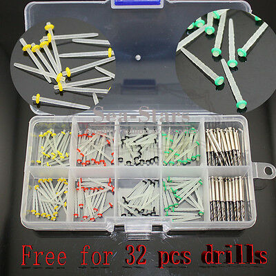 160 PCS NEW Dental Glass Fiber Post Single Refilled Package & Free 32 PCS Drills