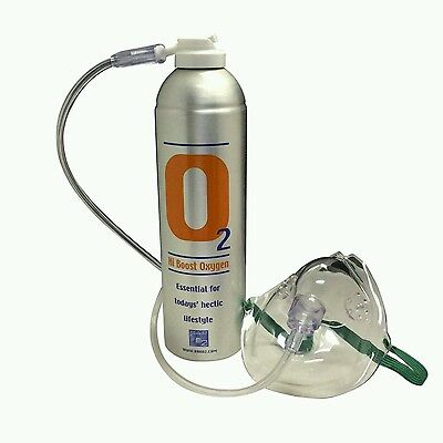 X2Pure Oxygen 7.2 Litre cans with 1 x Mask and 1.8 M Tubing