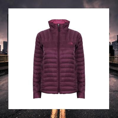 The North Face Womens Quilted Goose Down Winter Coat Jacket Purple Tonnerro Cz63
